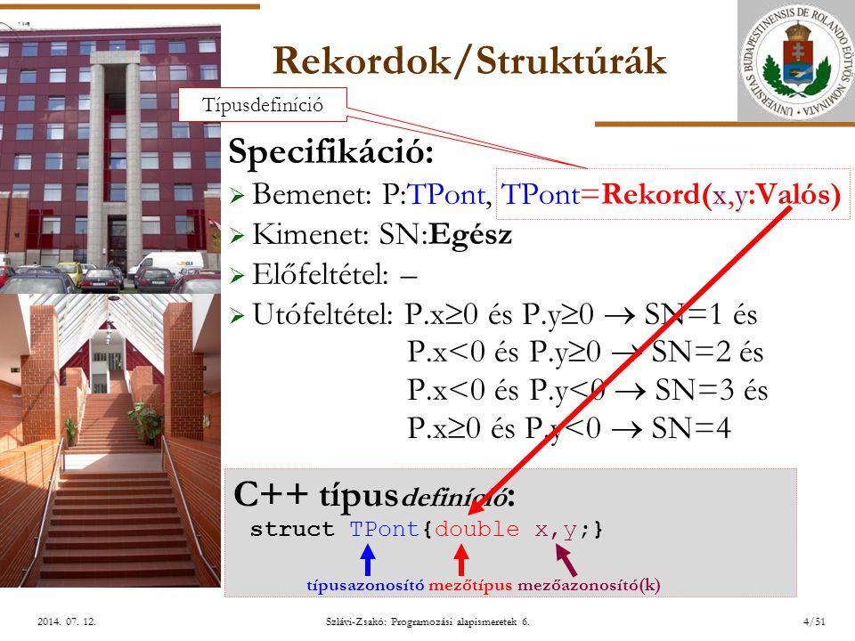 ELTE Szlávi-Zsakó: Programozási alapismeretek 6.25/512014.