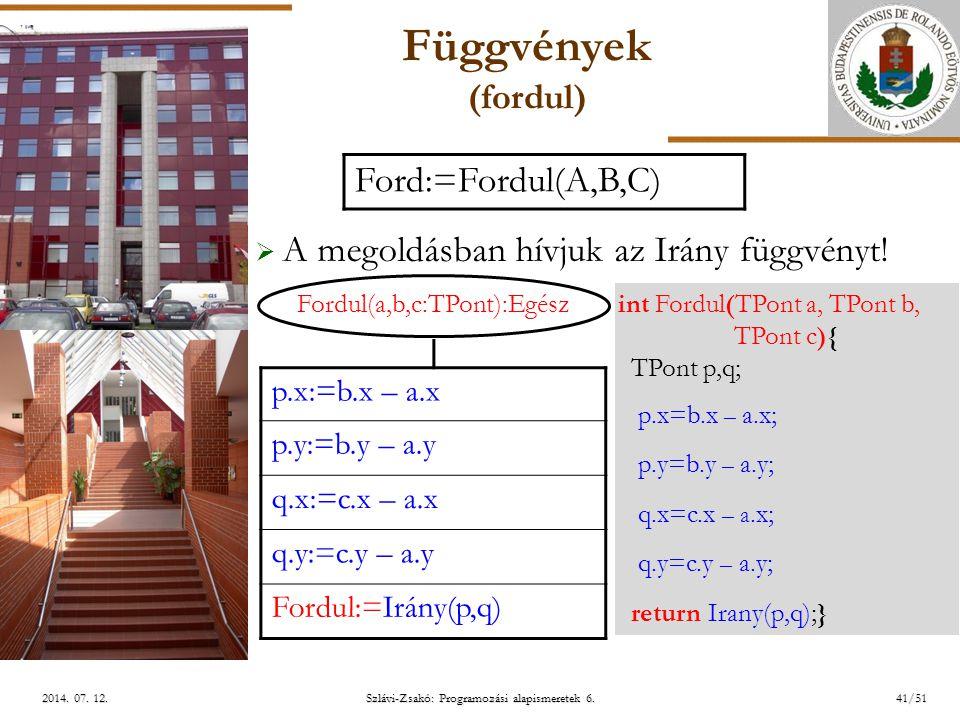 ELTE Szlávi-Zsakó: Programozási alapismeretek 6.41/512014.
