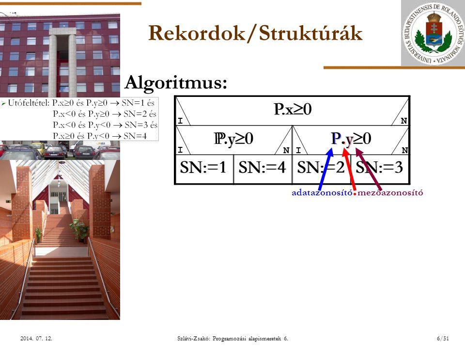 ELTE Szlávi-Zsakó: Programozási alapismeretek 6.7/512014.