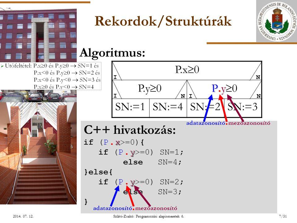ELTE Szlávi-Zsakó: Programozási alapismeretek 6.28/512014.