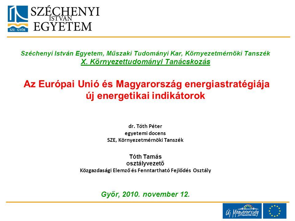 Széchenyi István Egyetem, Műszaki Tudományi Kar, Környezetmérnöki Tanszék X.