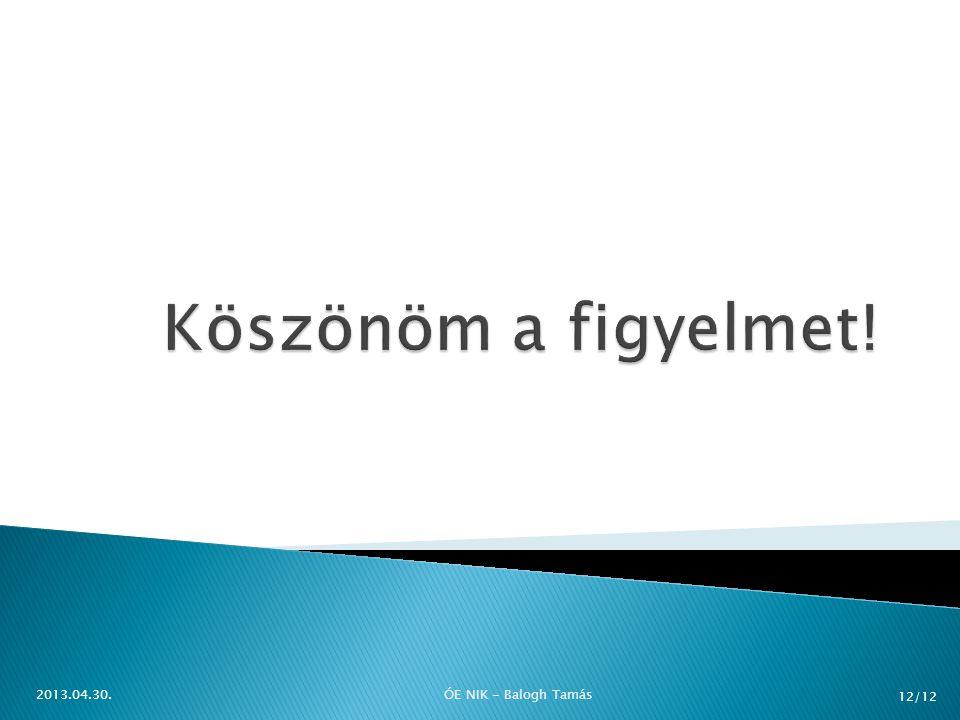 2013.04.30.ÓE NIK - Balogh Tamás 12/12
