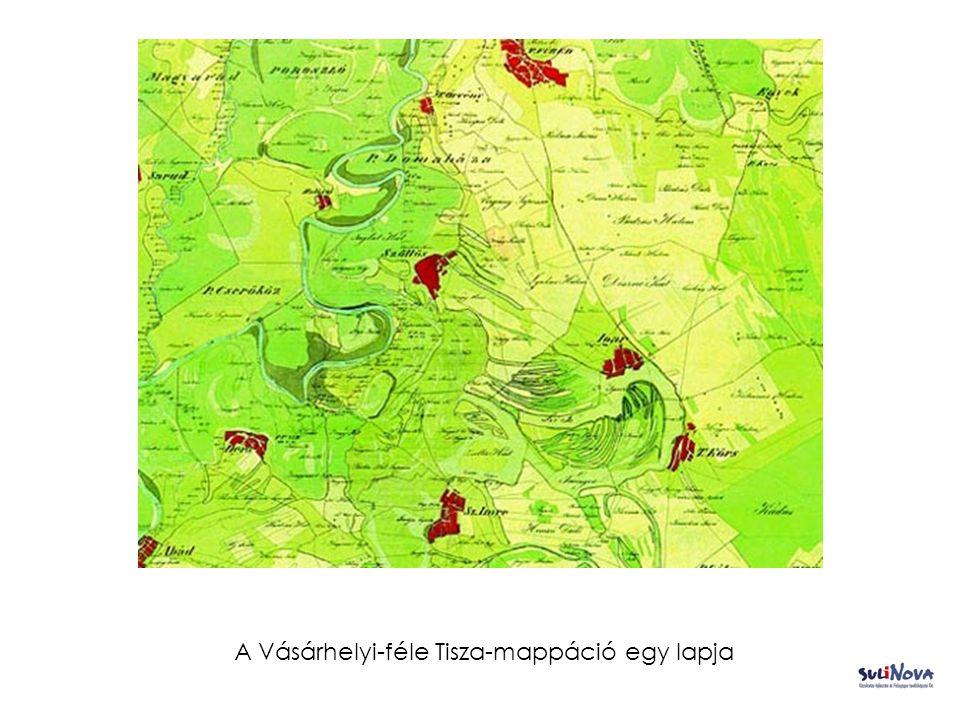 A Vásárhelyi-féle Tisza-mappáció egy lapja