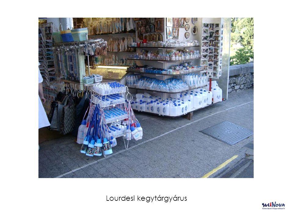 Lourdesi kegytárgyárus