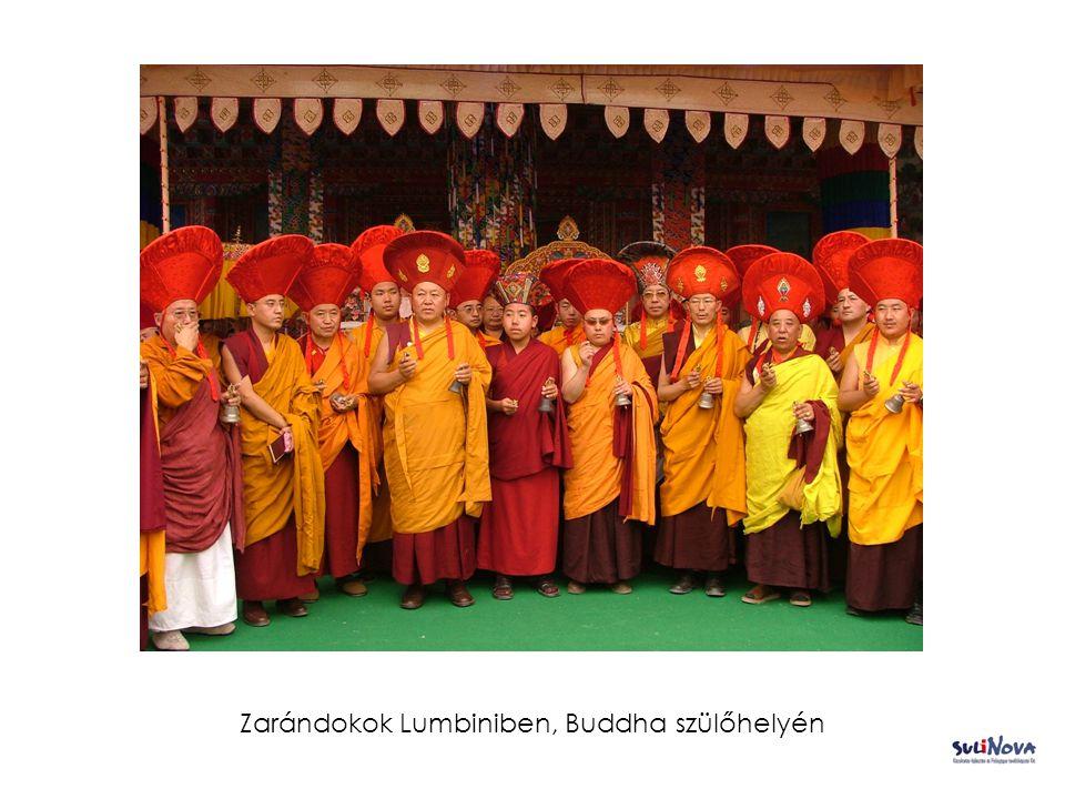 Zarándokok Lumbiniben, Buddha szülőhelyén