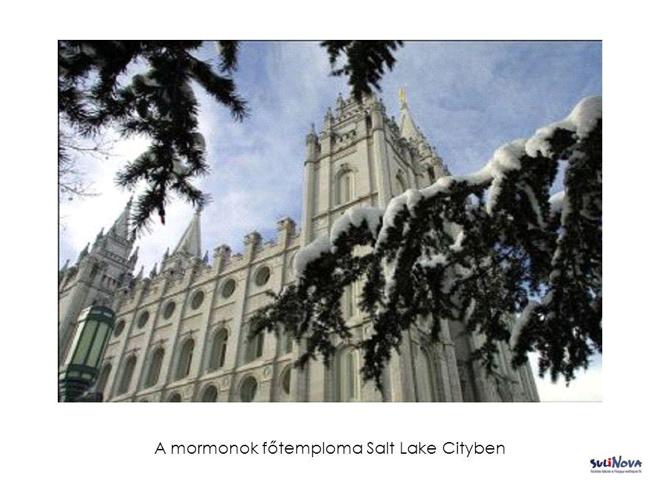 A mormonok főtemploma Salt Lake Cityben