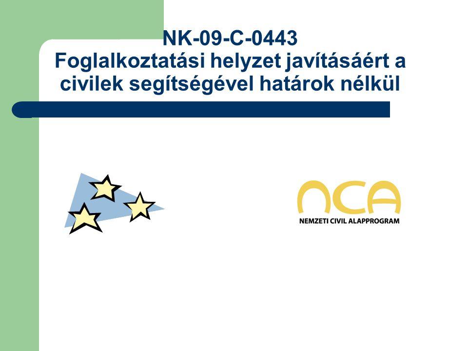 NK-09-C-0443 Foglalkoztatási helyzet javításáért a civilek segítségével határok nélkül