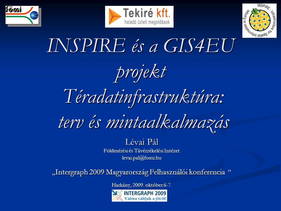 """INSPIRE és a GIS4EU projekt Téradatinfrastruktúra: terv és mintaalkalmazás Lévai Pál Földmérési és Távérzékelési Intézet levai.pal@fomi.hu """" Intergrap"""