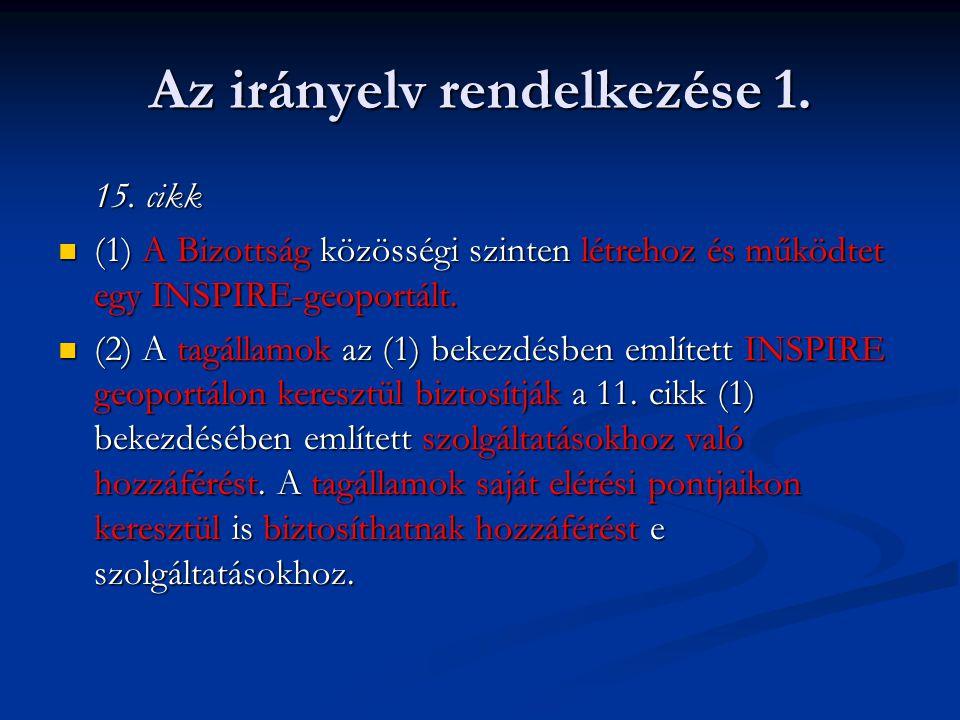 Az irányelv rendelkezése 2.11.