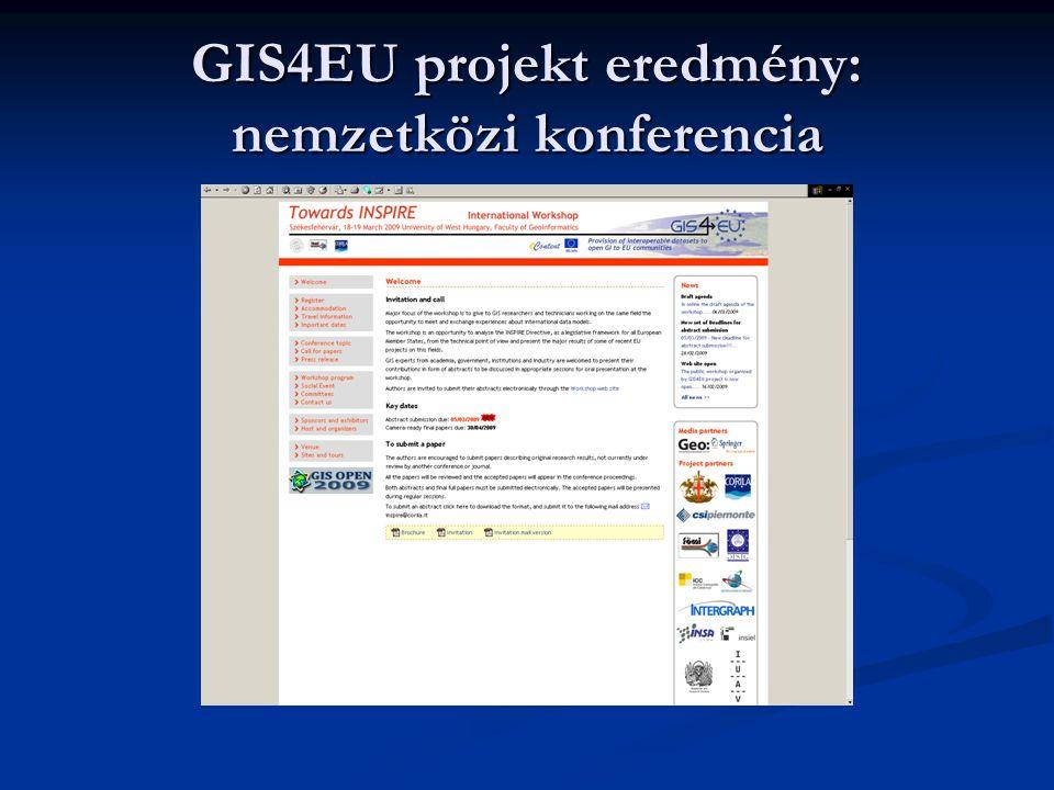 GIS4EU projekt eredmény: tematikus geoportal