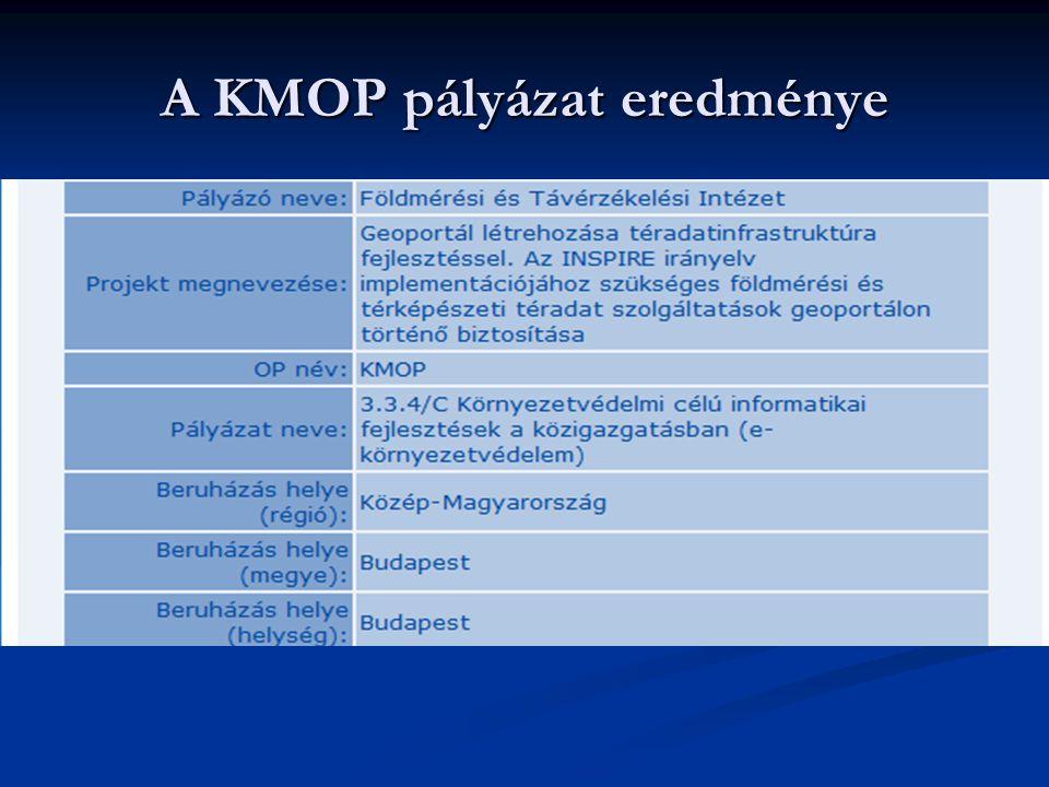 A KMOP pályázat eredménye
