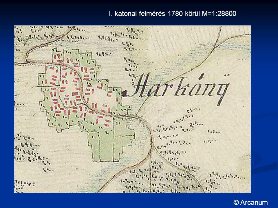 I. katonai felmérés 1780 körül M=1:28800 © Arcanum