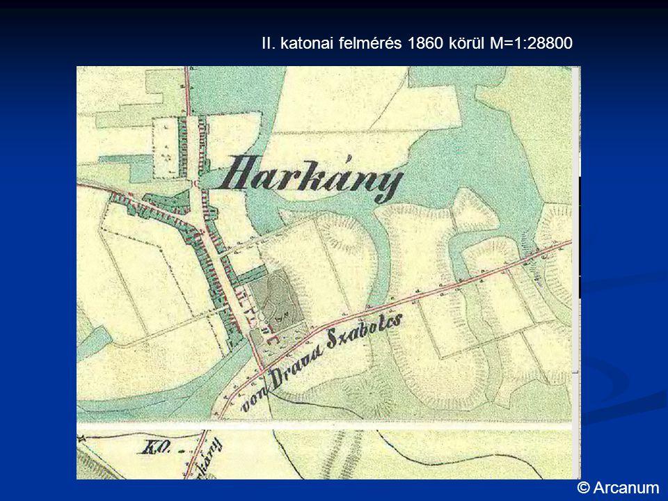 II. katonai felmérés 1860 körül M=1:28800 © Arcanum