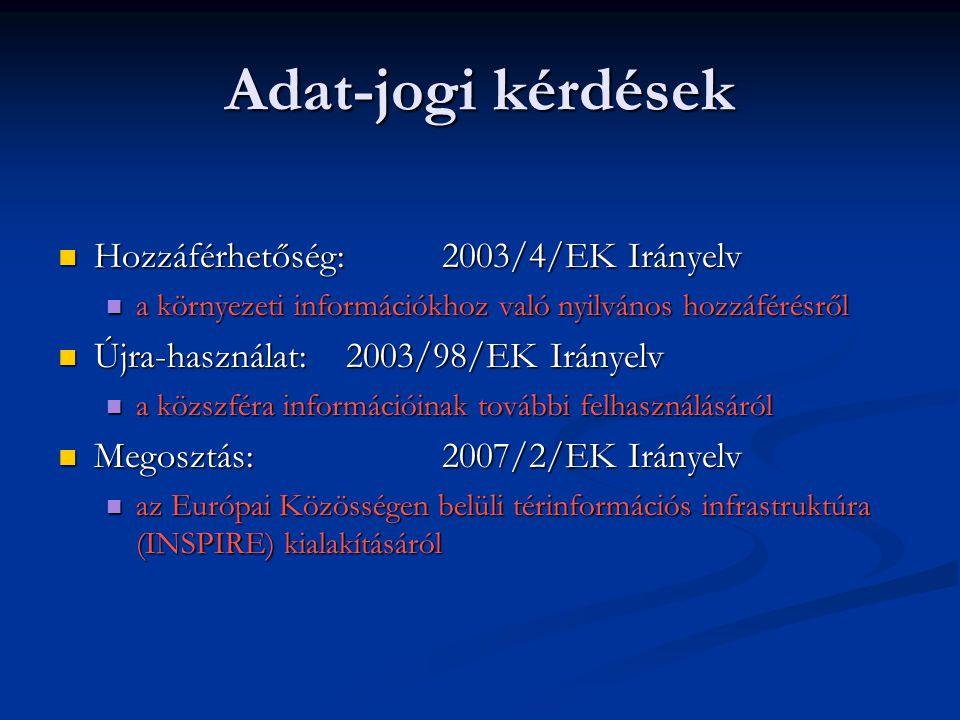 Adat-jogi kérdések Hozzáférhetőség: 2003/4/EK Irányelv Hozzáférhetőség: 2003/4/EK Irányelv a környezeti információkhoz való nyilvános hozzáférésről a