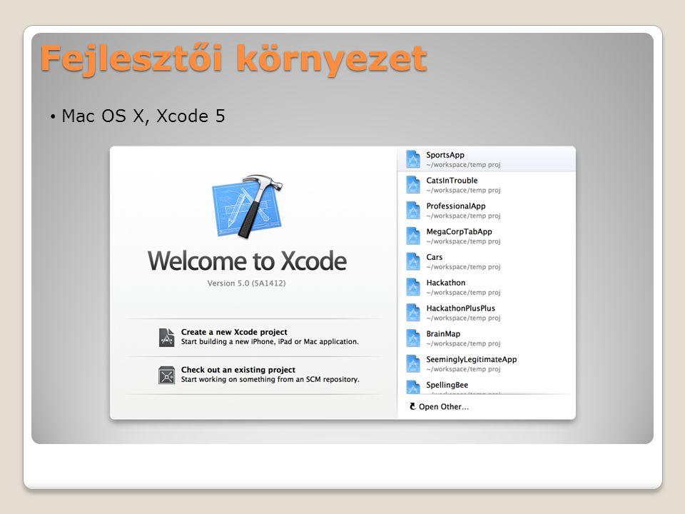 Fejlesztői környezet Mac OS X, Xcode 5