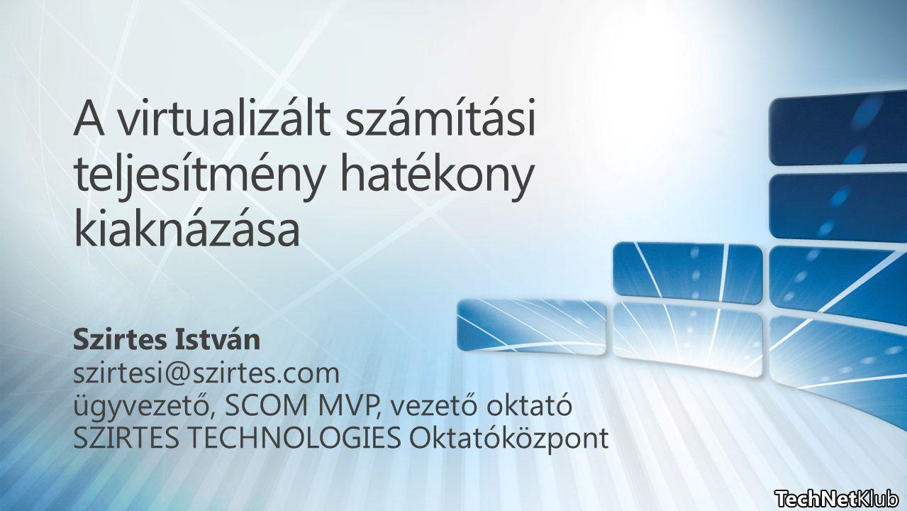SSP 2.0 lényege: System Center Virtual Machine Manager Self Service Portal 2.0 Partnerek által testre szabható portálfelület, ahol az adatközpont erőforrásai könnyedén felügyelhetőek és kiajánlhatóak Vízió