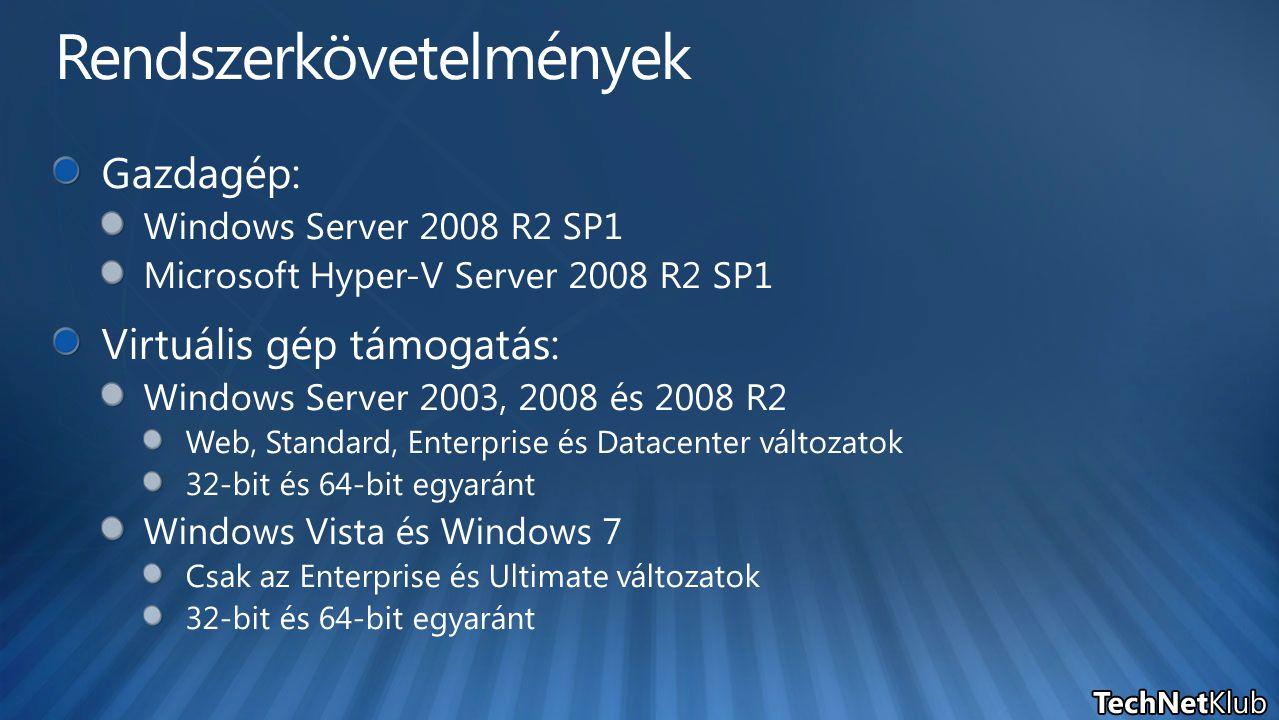 Önkiszolgáló felhasználó Admin konzol Windows PowerShell Virtualizációs gazdagépek Izolált hálózat (DMZ) Központi adattár Önkiszolgáló portál felületet futtató Web szerverek Adatbázis