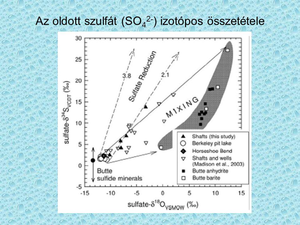 Kisérletek Aerób: kőzetőrlemény + ioncserélt víz levegőn Anaerób: kőzetőrlemény + ioncserélt víz, közben N 2 gáz áramlik át rajta.