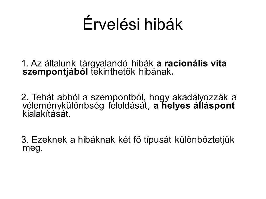 Érvelési hibák 1.