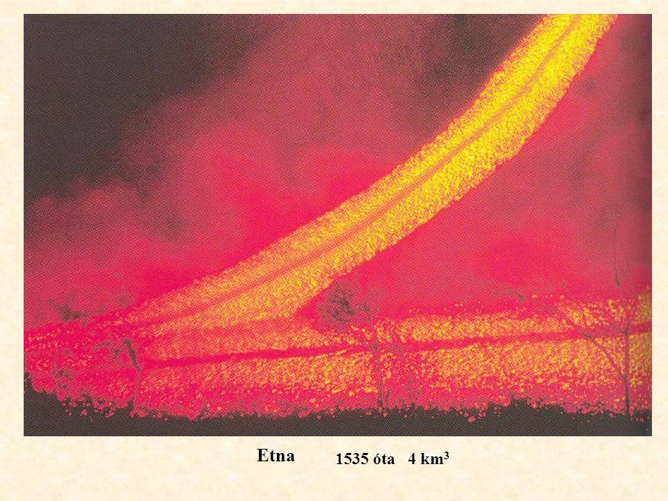 Etna 1535 óta 4 km 3