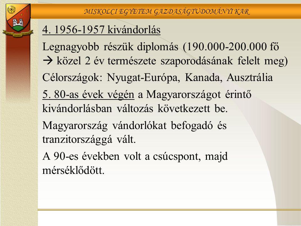 MISKOLCI EGYETEM GAZDASÁGTUDOMÁNYI KAR 4.