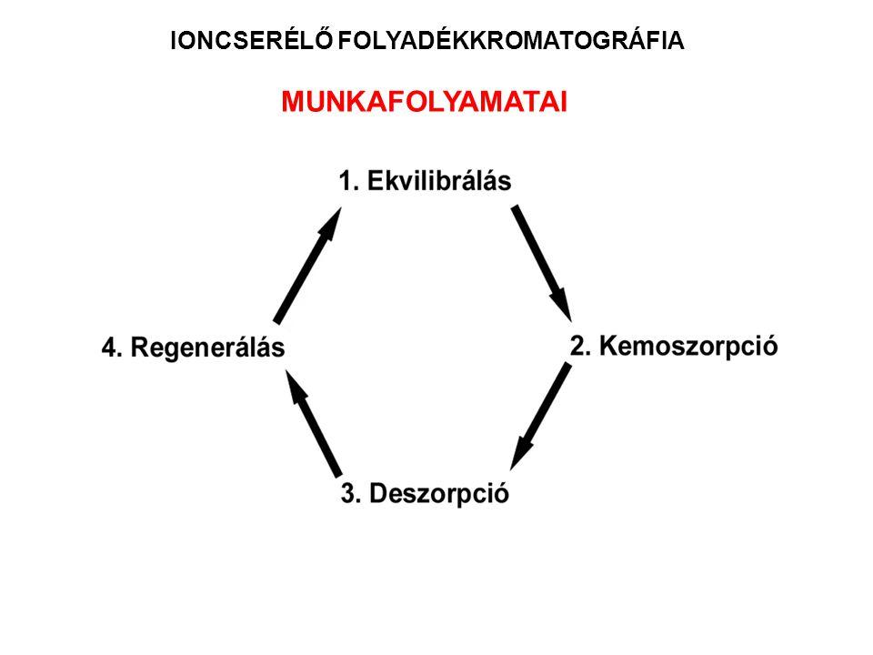 IONCSERÉLŐ FOLYADÉKKROMATOGRÁFIA MUNKAFOLYAMATAI
