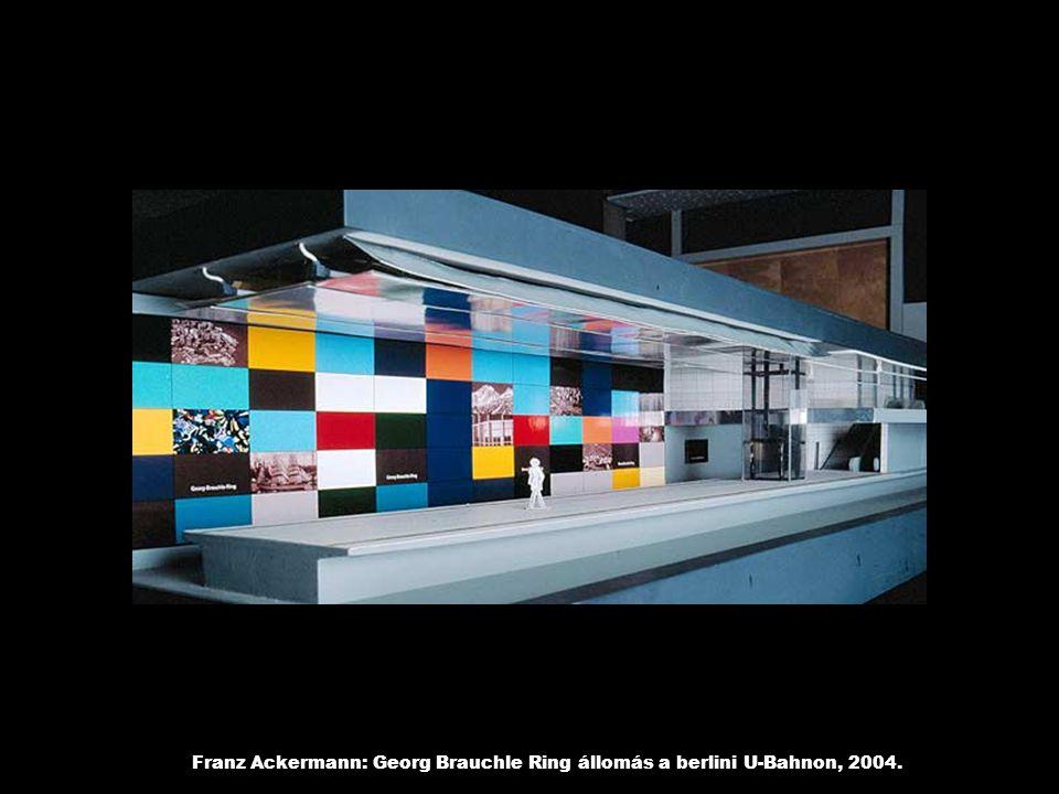 Franz Ackermann: Georg Brauchle Ring állomás a berlini U-Bahnon, 2004.