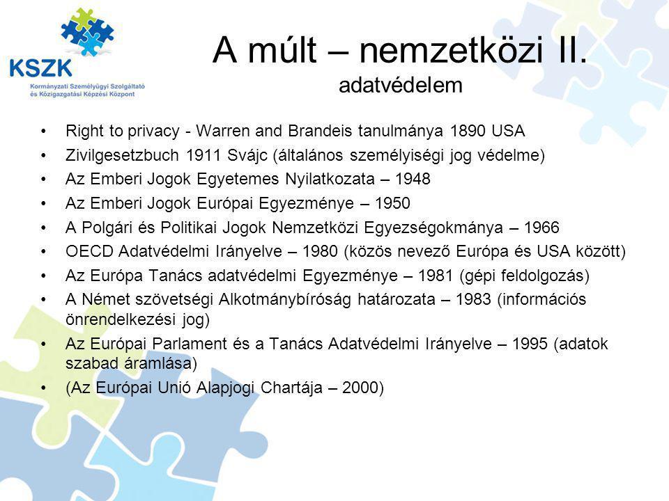 A múlt – nemzetközi II.