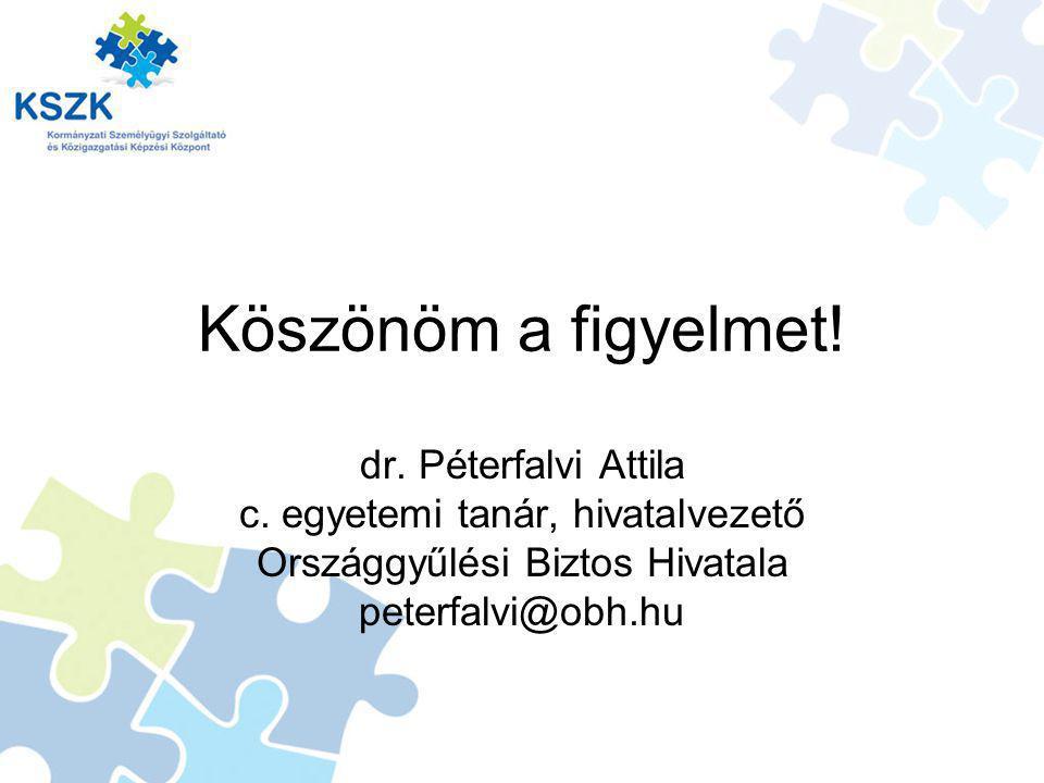 Köszönöm a figyelmet.dr. Péterfalvi Attila c.