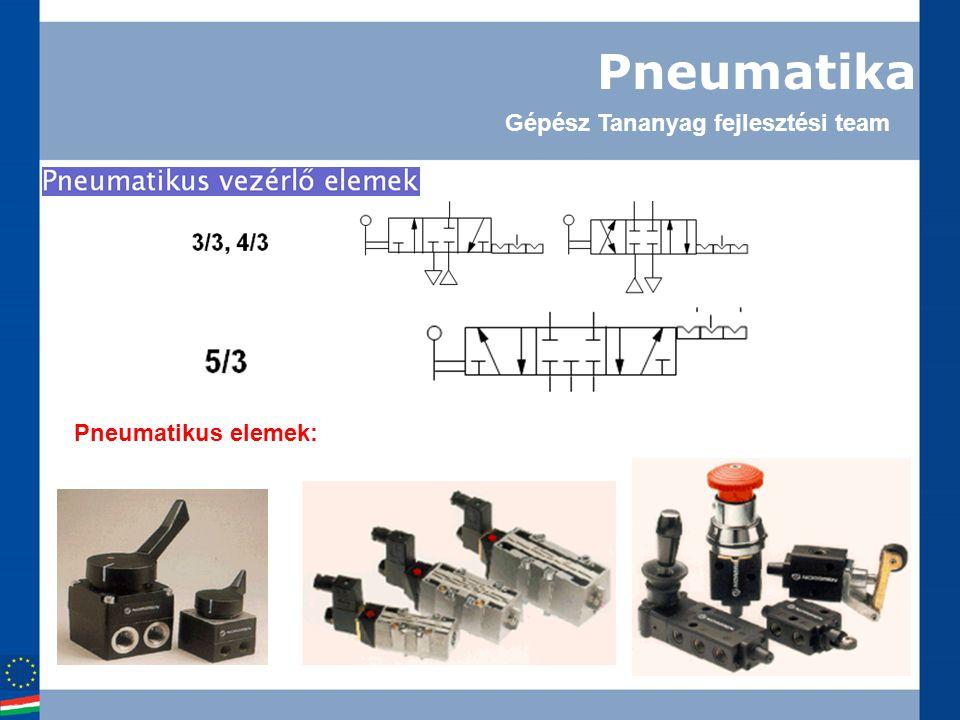 Pneumatika Pneumatikus elemek: Gépész Tananyag fejlesztési team