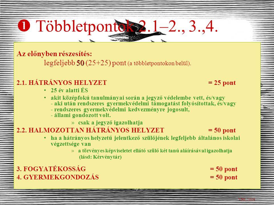  Többletpontok 1.2–3. 1.2.