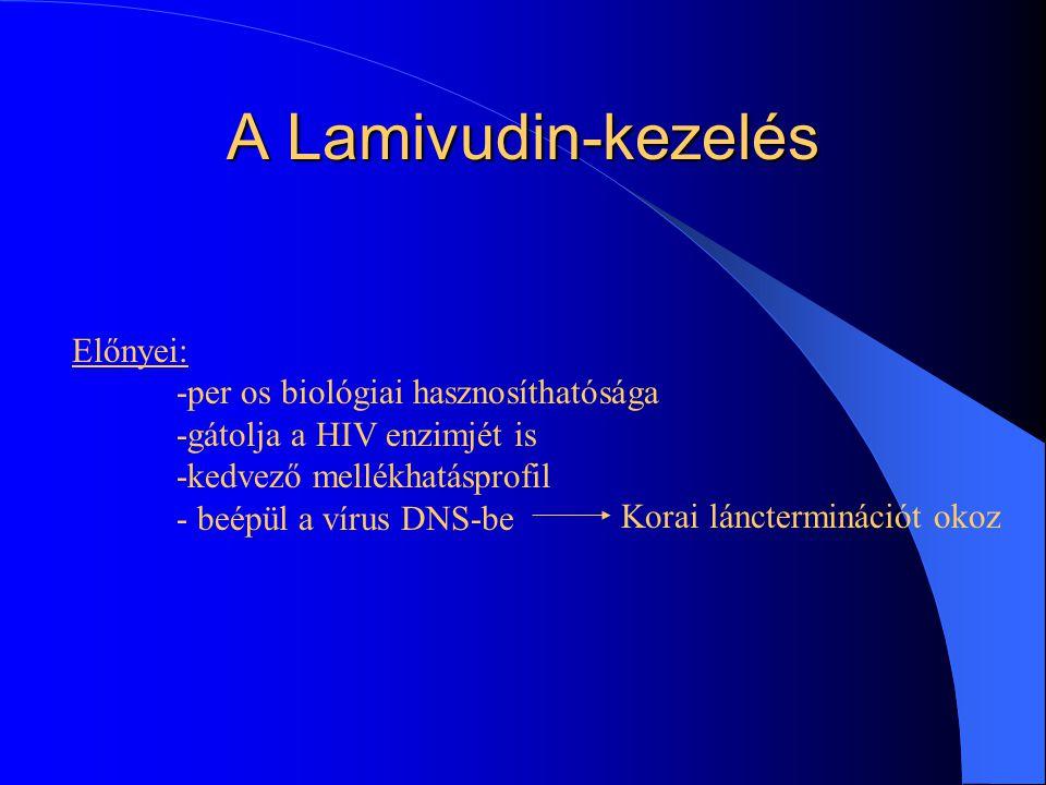 A Lamivudin-kezelés lényege A lamivudin beépül a vírus DNS-ébe Korai láncterminációt okoz