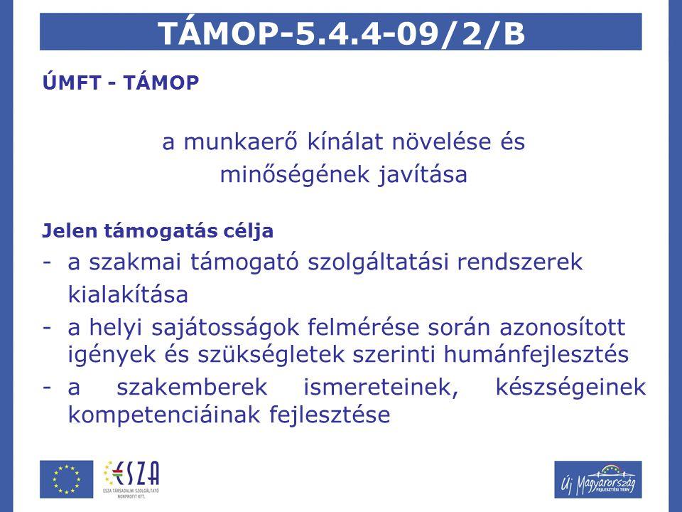 TÁMOP-5.4.4-09/2/B Megvalósítók Dél-Dunántúli Önkormányzati Regionális Társulás Dél-Dunántúli Regionális Forrásközpont Baranya Megyei Gyermekvédelmi Központ Megítélt támogatás 106.