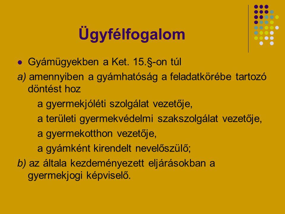 Speciális eljárási szabályok gyámügyekben Nem kell hiteles magyar fordítás, ha az ügyintézőnek az adott nyelvből legalább középfokú nyelvvizsgája van Speciális bizonyítási eszköz – környezettanulmány Speciális előírások a képviseletre–Gyer.10.