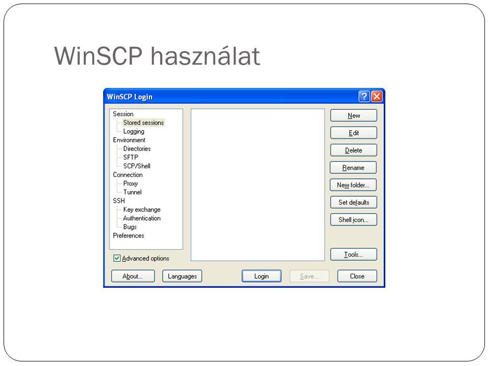 WinSCP használat