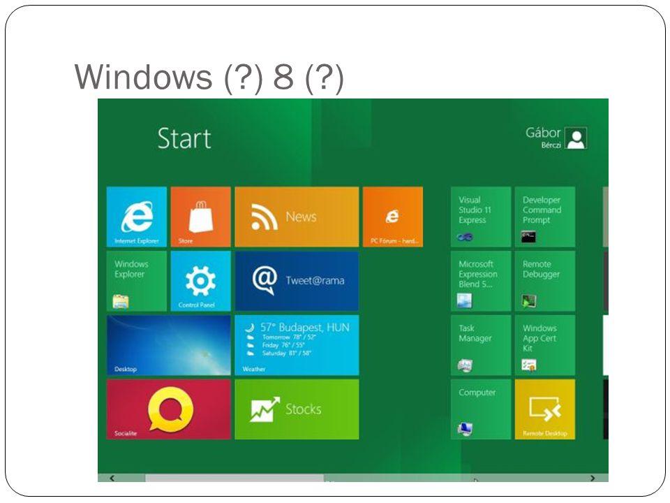 Windows (?) 8 (?)
