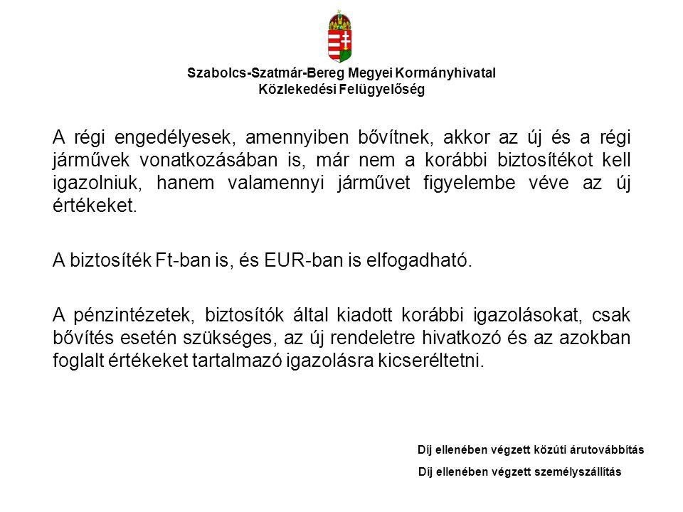 Szabolcs-Szatmár-Bereg Megyei Kormányhivatal Közlekedési Felügyelőség A 2011.