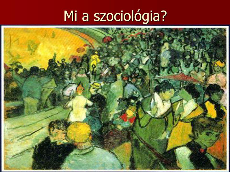 Mi a szociológia?