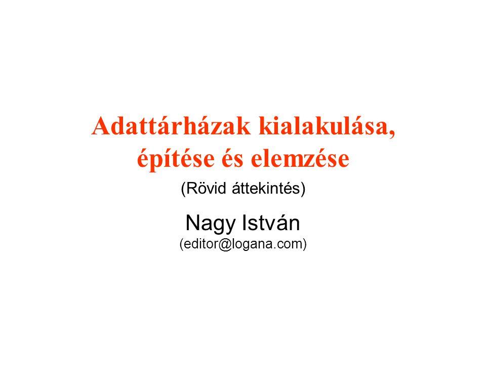 Adattárházak kialakulása, építése és elemzése (Rövid áttekintés) Nagy István (editor@logana.com)