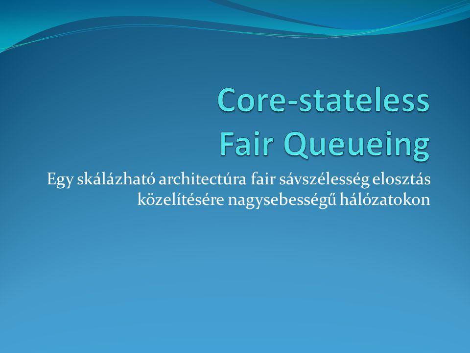 Súlyozott CSFQ Az algoritmus kiterjeszthető úgy, hogy folyamonként súlyozható legyen.