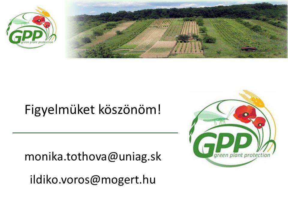 Figyelmüket köszönöm! monika.tothova@uniag.sk ildiko.voros@mogert.hu