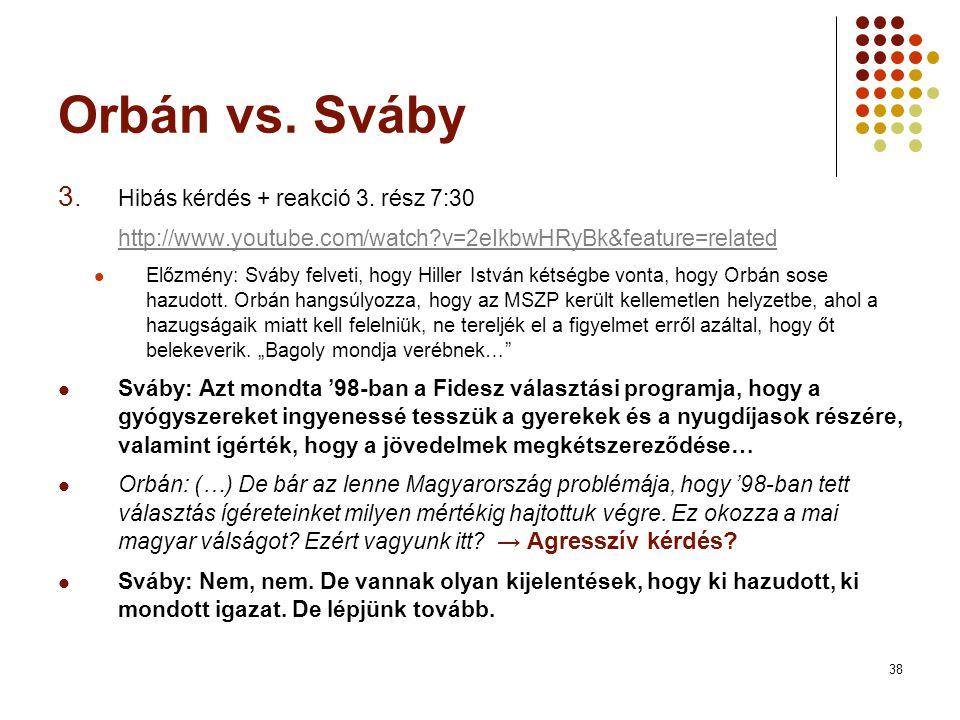 38 Orbán vs. Sváby 3. Hibás kérdés + reakció 3.