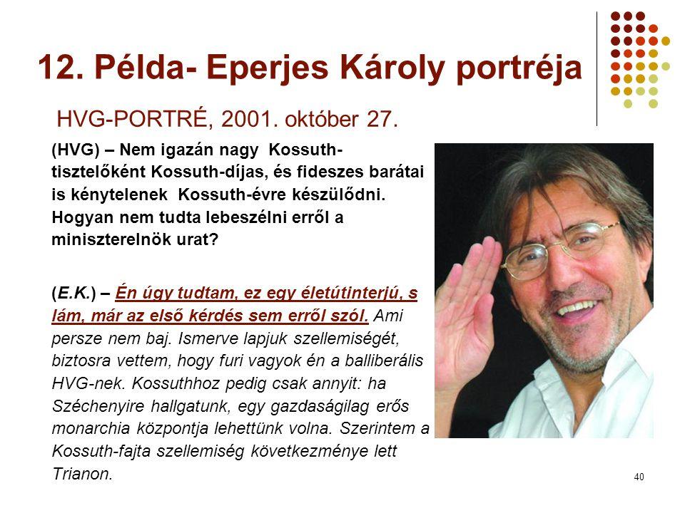 40 HVG-PORTRÉ, 2001. október 27.