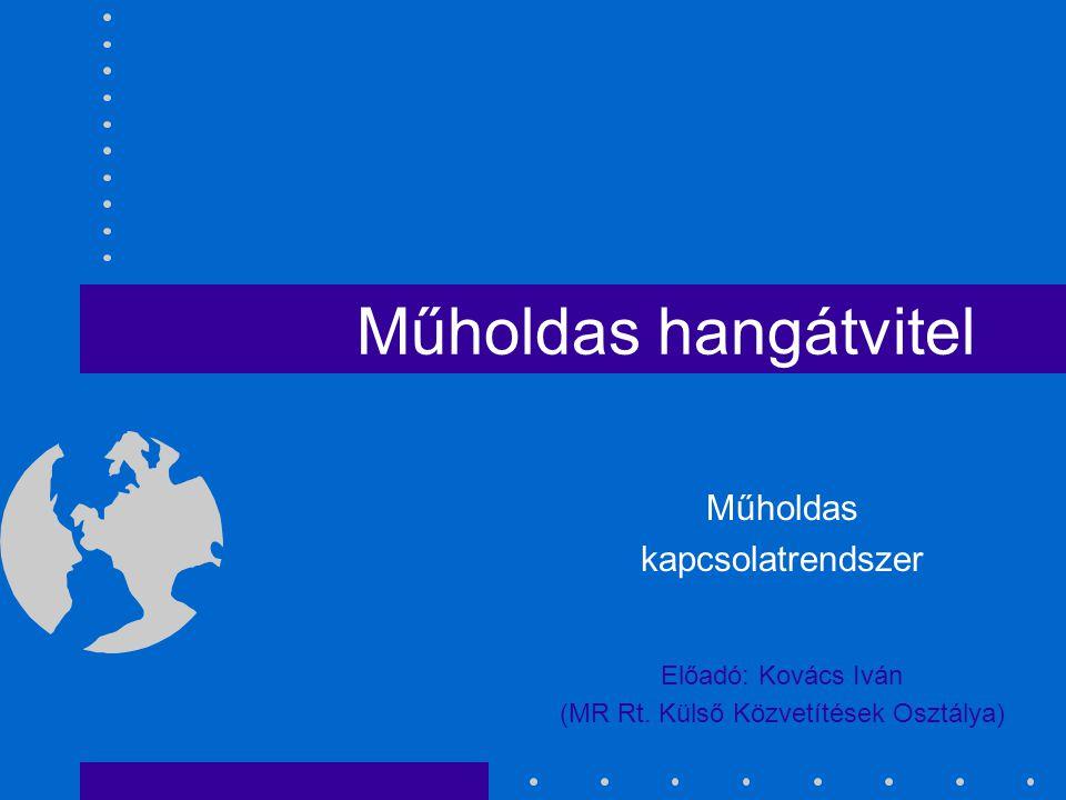 Műholdas hangátvitel Műholdas kapcsolatrendszer Előadó: Kovács Iván (MR Rt. Külső Közvetítések Osztálya)