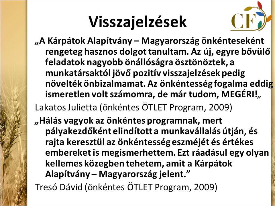 """Visszajelzések """"A Kárpátok Alapítvány – Magyarország önkénteseként rengeteg hasznos dolgot tanultam."""