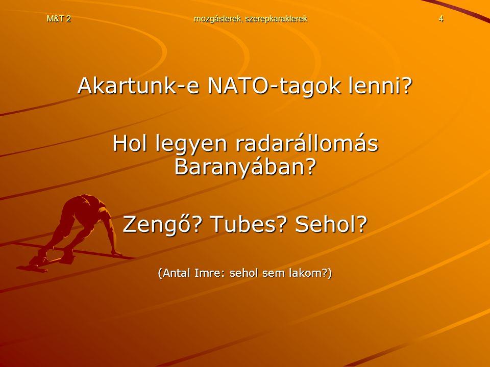 M&T 2mozgásterek, szerepkarakterek4 Akartunk-e NATO-tagok lenni.