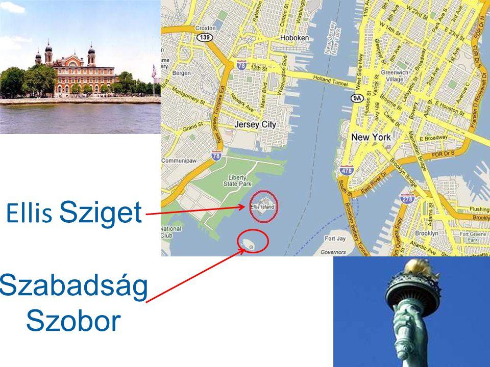 Manhattan sziget körül vizitaxival is lehet közlekedni … vagy átkelőhajóval el lehet menni a Battery Park tól a Szabadság Szoborhoz és az Ellis Sziget