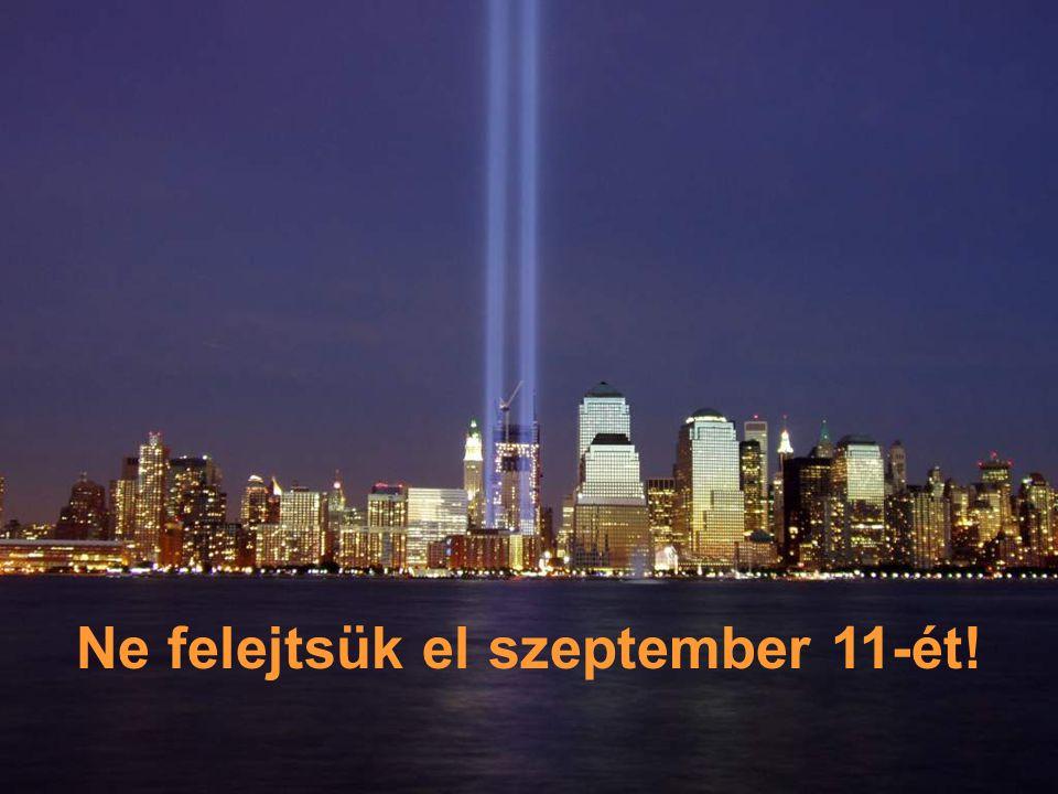 """De 2001. szeptember 11-én (9/11) a radikális iszlamisták a két tornyot, két repülőgéppel lerombolták. Ma ezt a helyet """"Ground Zero""""-nak hívják."""
