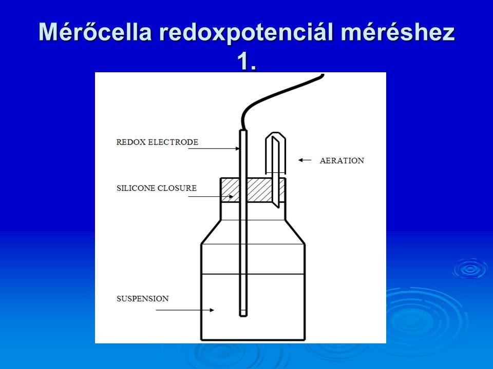 Mérőcella redoxpotenciál méréshez 1.