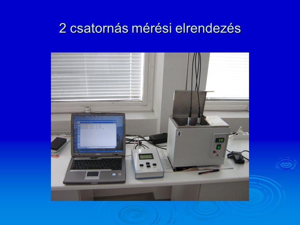 2 csatornás mérési elrendezés